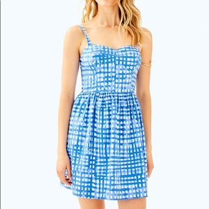 Lilly Pulitzer Ardleigh blue gingham check dress